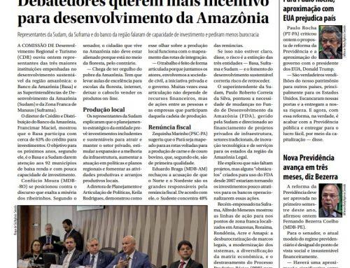 Jornal do Senado: Debatedores querem mais incentivo para desenvolvimento da Amazônia