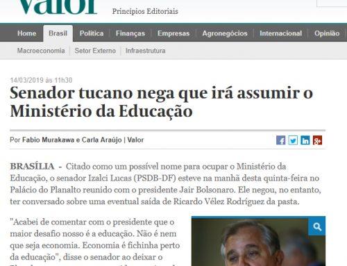Valor: Senador tucano nega que irá assumir o Ministério da Educação
