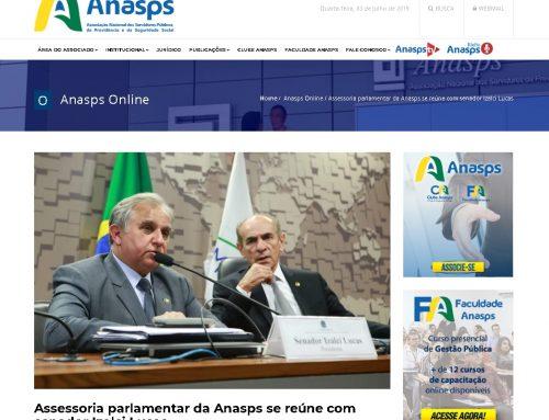 Anasps: Assessoria parlamentar da Anasps se reúne com senador Izalci Lucas