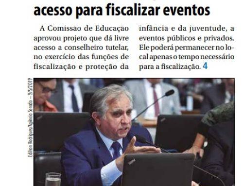 Jornal do Senado: Conselheiros tutelares poderão ter livre acesso para fiscalizar eventos