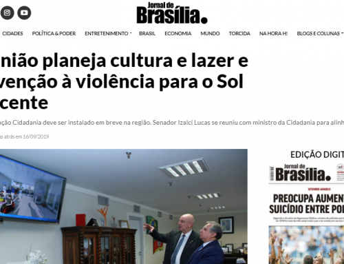 Jornal de Brasília – Reunião planeja cultura e lazer e prevenção à violência para o Sol Nascente