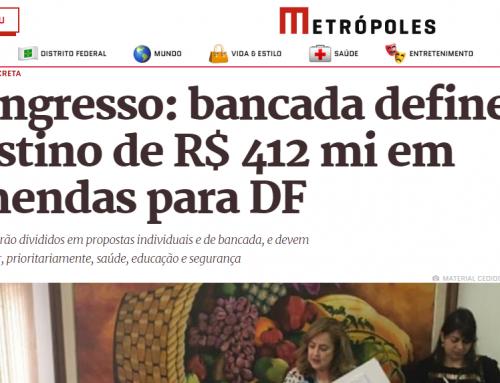 Metrópoles: Congresso: bancada define destino de R$ 412 mi em emendas para DF