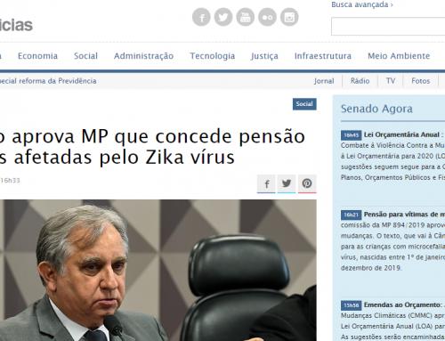Senado Notícias: Comissão aprova MP que concede pensão a crianças afetadas pelo Zika vírus