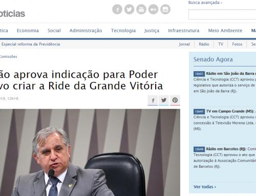 Senado Notícias: Comissão aprova indicação para Poder Executivo criar a Ride da Grande Vitória