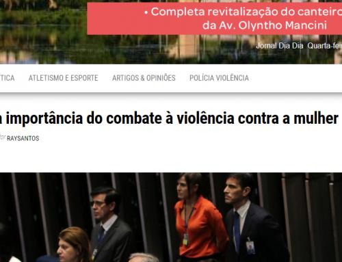 Jornal Dia Dia: Senado reforça importância do combate à violência contra a mulher